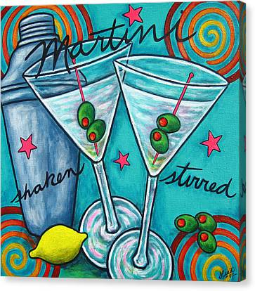 Retro Martini Canvas Print by Lisa  Lorenz