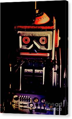 Retro Mechanical Robotics Canvas Print