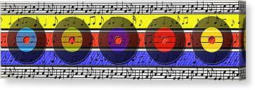 Retro Music Canvas Print by Steve Ohlsen