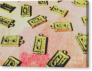Cassettes Canvas Print - Retro Music Tapes by Jorgo Photography - Wall Art Gallery