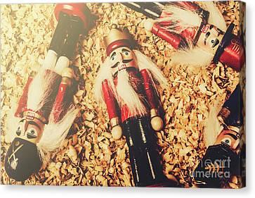Doll Canvas Print - Retro Nutcrackers by Jorgo Photography - Wall Art Gallery