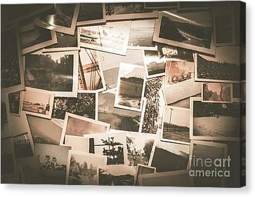 Retro Photo Album Background Canvas Print by Jorgo Photography - Wall Art Gallery