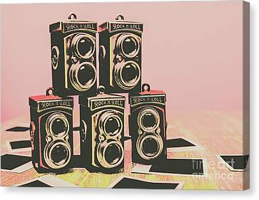 Retro Photo Camera Pop Art  Canvas Print by Jorgo Photography - Wall Art Gallery