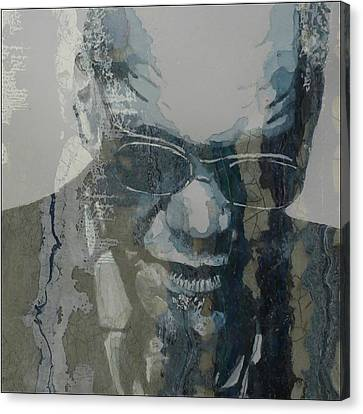 Retro / Ray Charles  Canvas Print by Paul Lovering