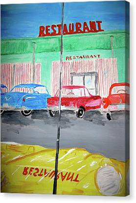 Retro Restaurant Canvas Print