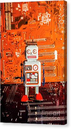 Retro Robotic Nostalgia Canvas Print