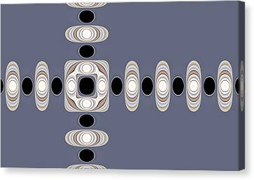 Canvas Print featuring the digital art Retro Shapes 1 by Fran Riley