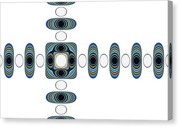 Canvas Print featuring the digital art Retro Shapes 2 by Fran Riley