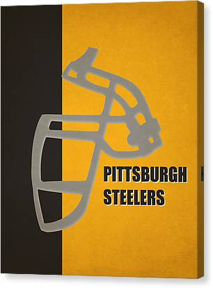 Retro Steelers Art Canvas Print