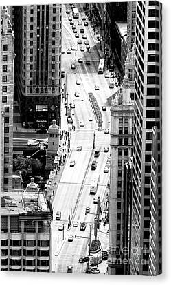 Retro Streets Of Chicago Canvas Print by John Rizzuto
