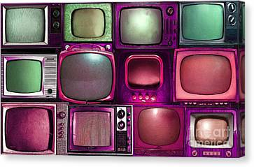Retro Television Marathon 20150928long V2 M68 Canvas Print