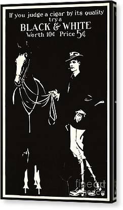 Retro Tobacco Ad 1890 Canvas Print by Padre Art