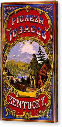Retro Tobacco Label 1868 D Canvas Print by Padre Art