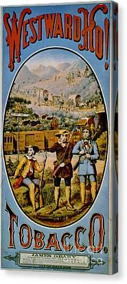 Retro Tobacco Label 1868 E Canvas Print by Padre Art