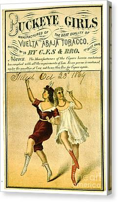 Canvas Print featuring the photograph Retro Tobacco Label 1869 F by Padre Art
