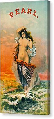 Retro Tobacco Label 1871 Canvas Print by Padre Art