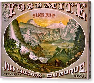 Retro Tobacco Label 1872 B Canvas Print by Padre Art