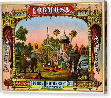 Retro Tobacco Label 1872 C Canvas Print by Padre Art