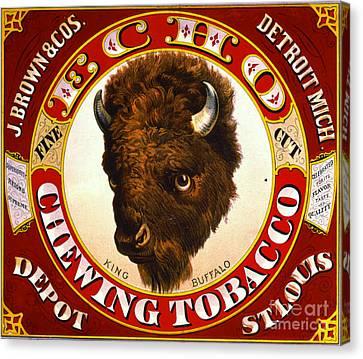 Retro Tobacco Label 1873 A Canvas Print by Padre Art