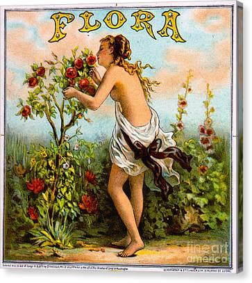 Retro Tobacco Label 1873 B Canvas Print by Padre Art