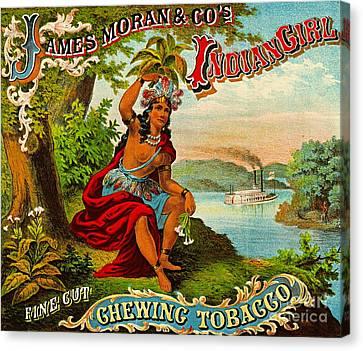 Retro Tobacco Label 1874 B Canvas Print by Padre Art