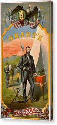 Retro Tobacco Label 1874 C Canvas Print by Padre Art