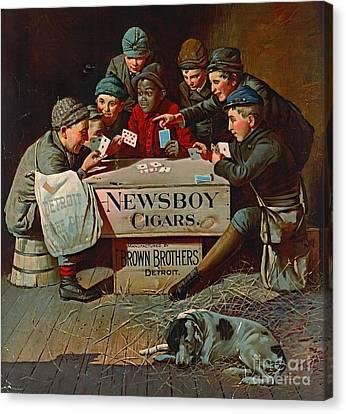 Retro Tobacco Label 1894 Canvas Print by Padre Art
