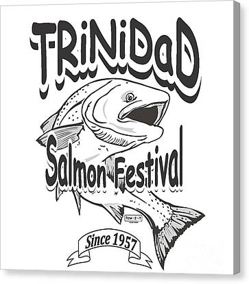 Robert Morrissey Canvas Print - Retro Trinidad Bay Salmon Festival 1957 by Robert Morrissey
