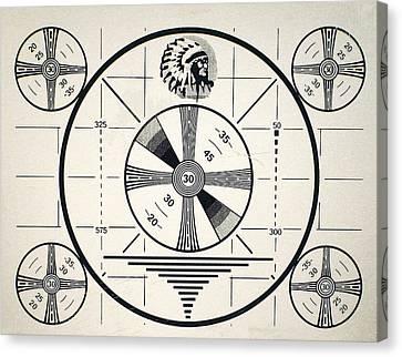 Retro Tv Monoscope Test Pattern Geekery Canvas Print by Tina Lavoie