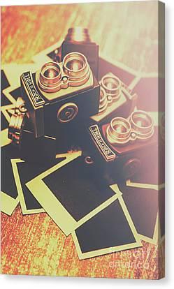 Retro Twin Lens Reflex Cameras Canvas Print