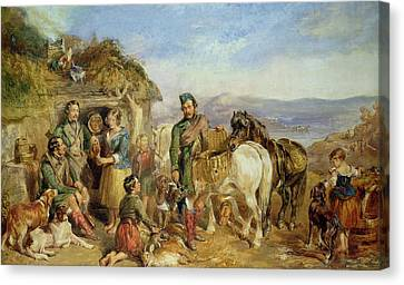 Return From The Shoot Canvas Print by John Frederick Tayler