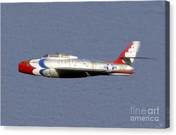 Return Of The F 84 Canvas Print by David Lee Thompson