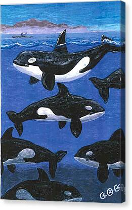 Return Of The Whale Canvas Print