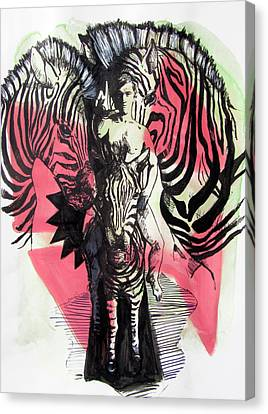 Return Of Zebra Boy Canvas Print by Rene Capone