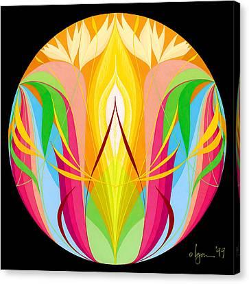 Return To Center Canvas Print by Angela Treat Lyon