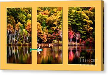 Return To Lake Transition  Canvas Print by Garland Johnson