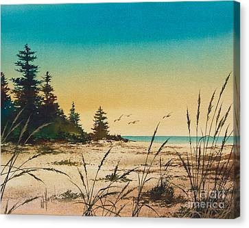 Return To The Shore Canvas Print by James Williamson