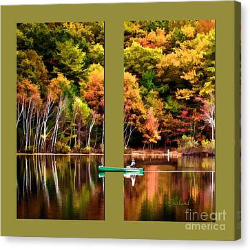 Return To Lake Transition Two Thirds Canvas Print by Garland Johnson
