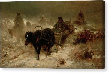 Returning Home Canvas Print by Adolf Schreyer