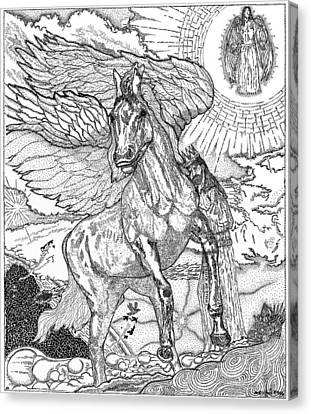 Revelation   Return Of The King Canvas Print