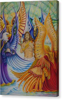 Canvas Print featuring the painting Revelation Five by Rick Ahlvers
