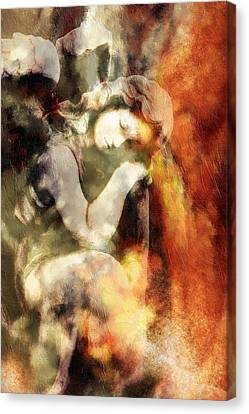 Revelation Vintage Abstract Realism Canvas Print by Georgiana Romanovna