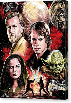 Revenge Of The Sith Edit Canvas Print by Andrew Read