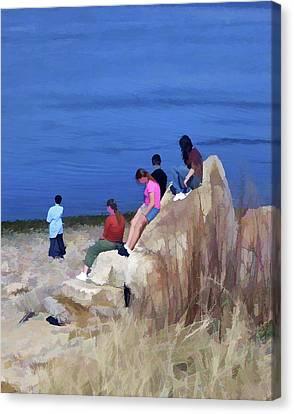 Eternal Flow Canvas Print - Reverence 3 by Lynda Lehmann