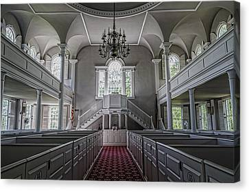 Reverence - Bennington First Church Canvas Print by Stephen Stookey