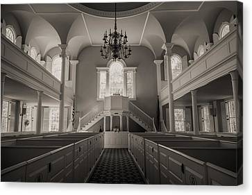 Reverence - Old First Church Of Bennington Canvas Print by Stephen Stookey