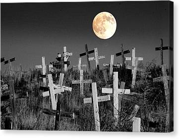 Cross Canvas Print - Reverent Moonlight.... by Al  Swasey