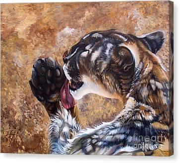 Indigenous Wildlife Canvas Print - Reverie by J W Baker