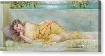 Reverie Canvas Print by Norman Prescott Davies