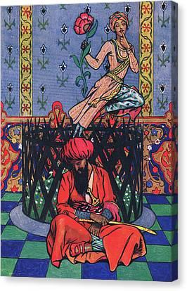 Reverie Of Ormuz The Persian Canvas Print by John Byam Liston Shaw